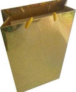 HOLOGRAMLI DORE – Gold Baskısız Karton Çanta