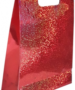 Hediyelik kırmızı karton çanta 24 x 34