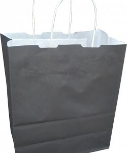 Siyah renk Kağıt Poşet 25×31
