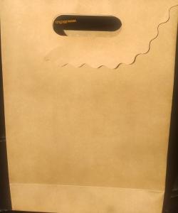 Hediyelik kapaklı kraft karton çanta