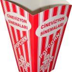 Orta boy popcorn kutu ambalajı