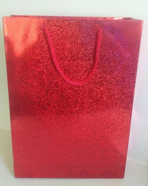 kırmızı helogramlı karton çanta 1