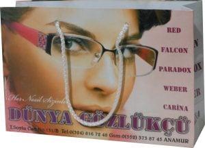 Gözlükçü karton Çantası 1