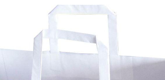 Flat (Düz Saplı)  Kraft Kağıt Poşet 1