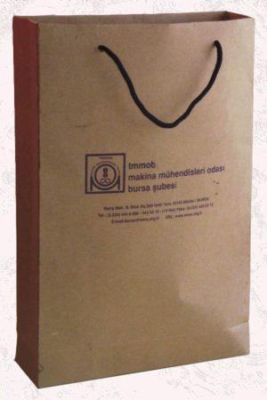 ip saplı kraf karton çanta