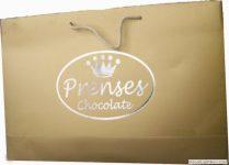 Bursa karton çanta prenses Çikolata